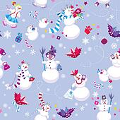 Seamless pattern for New Year or Christmas holiday design. Winte