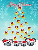family of mice at Christmas