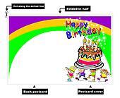 Happy Birthday kids card