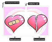 Broken heart - card