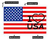 I Love USA card