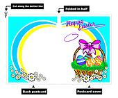 Easter basket postcard