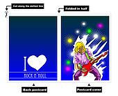 I Love Rock card