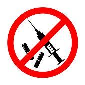 Vector no drugs symbol