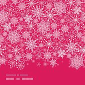 Snowflake Texture Horizontal Border Seamless Pattern Background