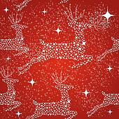 Merry Christmas reindeer seamless pattern background.