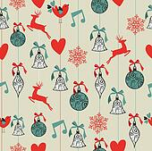 Merry Christmas seamless pattern background.