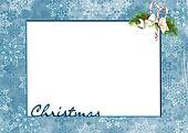 Christmas snowflake frame