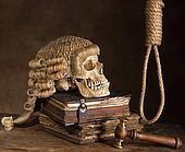 Noose and judge's wig