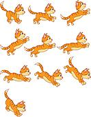 Cat Jumping Animation Sequence