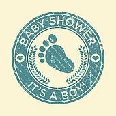 Baby Shower Feet Rubber Stamp