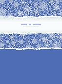 Snowflake Texture Vertical Torn Frame Seamless Pattern Background