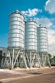 Cement silo at construction site