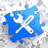 Puzzle Pieces: Service Concept.
