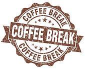 coffee break brown grunge stamp