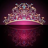 crown tiara womens gold with precious stones