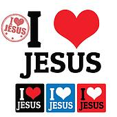 I love Jesus sign and labels