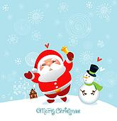 funny and cute christmas card and h