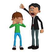 Father angry with a child