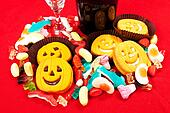 halloween biscuits and candy