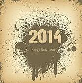 happy new year 2014 retro