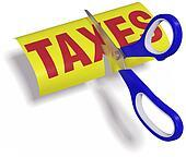 Scissors cut high unfair Taxes