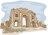 Jerash Gate