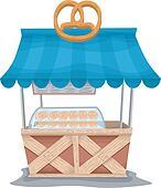 Pretzel Food Cart