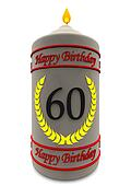 birthday candle for 60th birthday