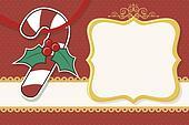 christmas candy cane card