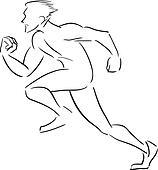 Symbolic rapidly running man