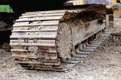 Construction excavator track loaders disrepair