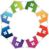 Teamwork houses logo