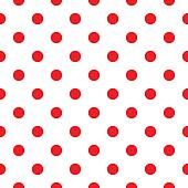 Red polka dot seamless pattern design