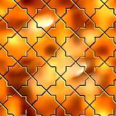 Golden Pattern. Seamless Tileable Texture.