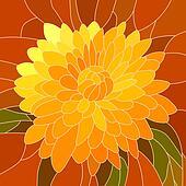 Illustration yellow chrysanthemum.
