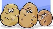 potatoes vegetable cartoon illustration