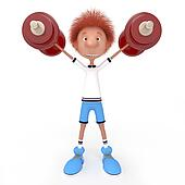 3d boy athlete.