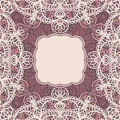 Square frame with lace
