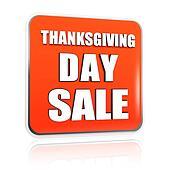 Thanksgiving day sale orange banner