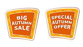 big sale and special offer autumn banners