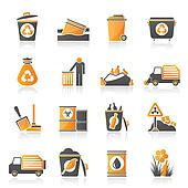Garbage and rubbish icons