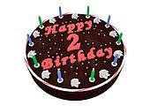 chocolate cake for 2nd birthday