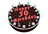 chocolate cake for 50th birthday