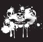 Skull in bandana illustration