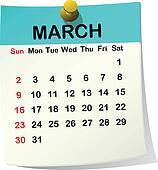 2014 calendar for March.