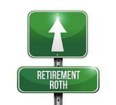 retirement roth road sign illustration design