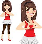 Teen Love Heart Sign