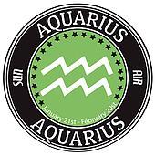 Aquarius zodiac  label