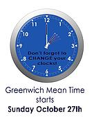 BST, GMT - change the clocks